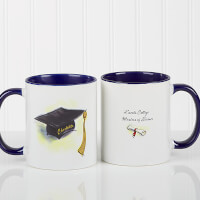 Personalized Blue Graduation Coffee Mugs - Cap &..