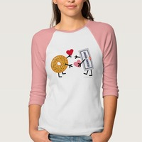 Bagel & Cream Cheese - Valentine Hearts Love T..