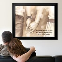 Personalized Framed Art - Holding Hands Forever