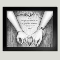 Personalized Framed Art - Holding Your Hands