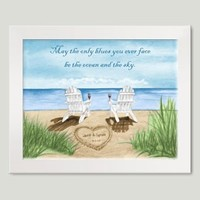 Personalized Framed Art - Ocean Leisure Chairs II