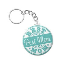 Best Mom - Rubber Stamp Effect- Basic Round..