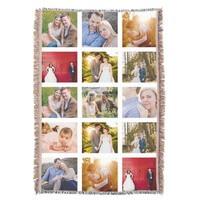 Photo Collage Gift 15 Photo Blanket Throw