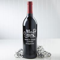 Personalized Wine Bottle - Wedding & Anniversary..