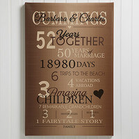 Our Years Together 16x24 Personalized Canvas Print