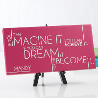 Personalized Canvas Prints - Inspiriting Messages
