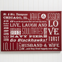 Our Life Together 16x24 Personalized Wall Art