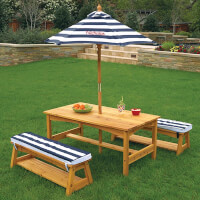 Personalized Kids Outdoor Table & Bench Set