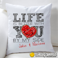 Personalized Love Throw Pillow - SmileyWorld