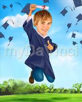 Graduation Caricature For Him From Photos