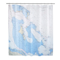 Custom Map Shower Curtain