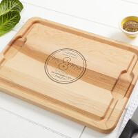 Personalized Romantic Maple Cutting Board -..
