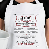 Personalized Wedding Apron - Recipe For A Happy..