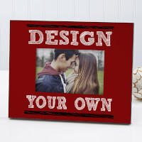 Design Your Own Personalized Picture Frame - Red