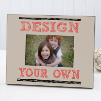 Design Your Own Personalized Picture Frame - Tan