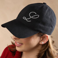 Personalized Rhinestone Monogram Ladies Baseball..