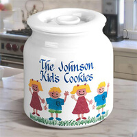Personalized Cookie Jar With Sponge Kids