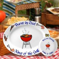Personalized Barbeque Platter - Dad Is..