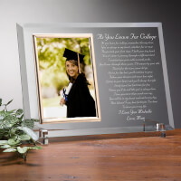 Custom Glass Graduation Picture Frame - As You..