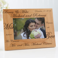 Personalized Wedding Picture Frames - Mr And Mrs..