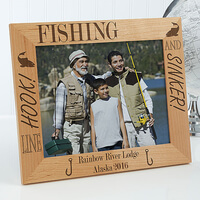 Personalized Fishing Custom Wood Picture Frame -..