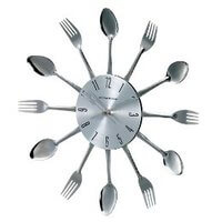 Fork And Spoon Clock