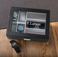 Personalized Mens Watch And Sunglasses Case