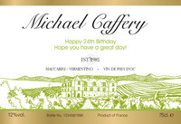 Personalized White Wine Labels