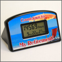 Retirement Countdown Clock - Beach