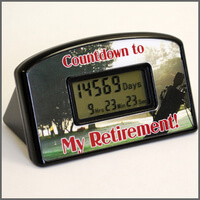 Retirement Countdown Clock - Golf