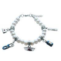 Nurse Charm Bracelet In Silver