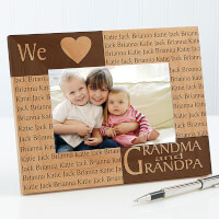 Engraved Names Personalized Picture Frames - 4 X 6
