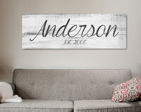 Big Family Name Sign - A Personalized Family..