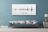 Sound Wave Canvas - A Personalized Design Using..
