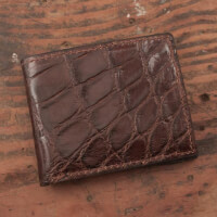Amish Crafted Brown Alligator Skin Bifold Wallet