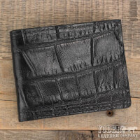Amish Crafted Black Alligator Skin Bifold Wallet