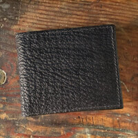 Amish Crafted Black Shark Skin Bifold Wallet