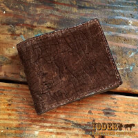 Amish Crafted Brown Hippopotamus Leather Wallet