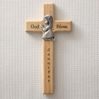 Personalized First Communion Wall Cross Praying..