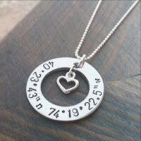 CUSTOM COORDINATE NECKLACE