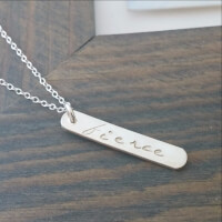 HAND STAMPED FIERCE NECKLACE