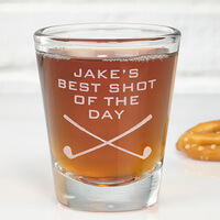 Best Shot Of The Day Personalized Golf Shot Glass