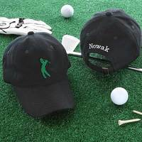 Golf Fan Personalized Golf Hat - Black