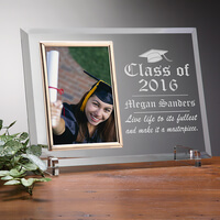 Engraved Glass Photo Frame - Graduation Edition