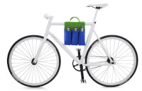 Bike Bag 6 Pack Carrier Blue & Green