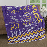 Custom Fleece Blanket 60x80 - School Memories