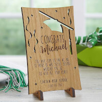 Personalized Wooden Postcards - Graduation..