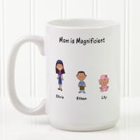 Personalized Large Coffee Mugs - Family Cartoon..