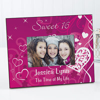Sweet Sixteen Personalized Birthday Picture Frames
