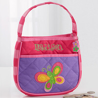Girls Personalized Butterfly Purse & Butterfly..